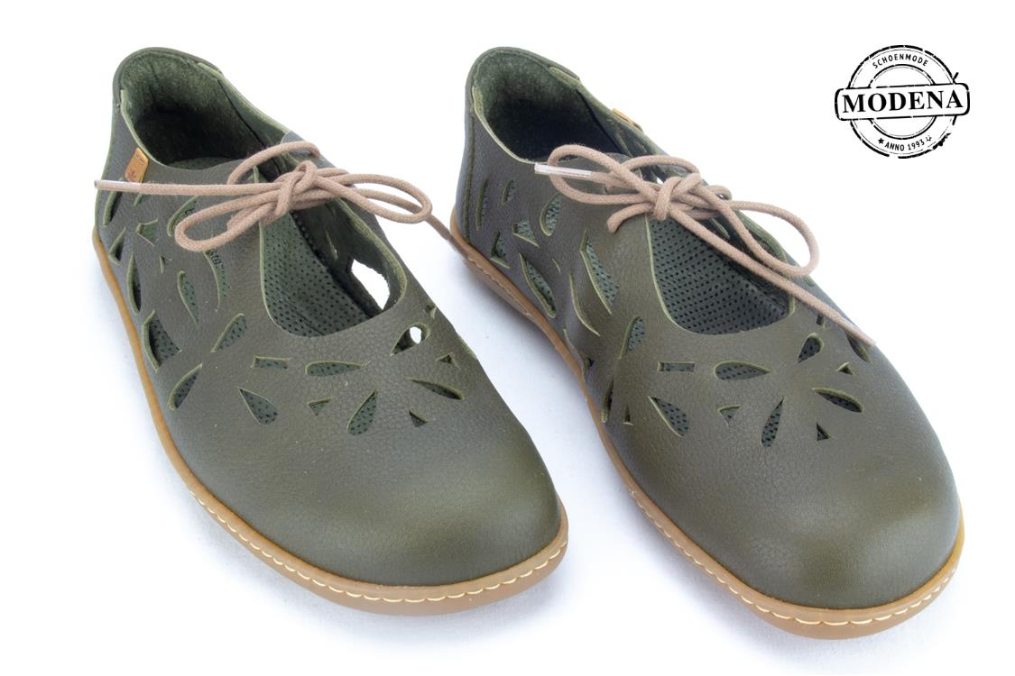 Modena schoenmode - v moc - olive perforee